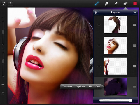 Procreate 1.01 is a painting app for the iPad