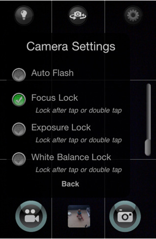 QuickPix 1.2.1 camera settings